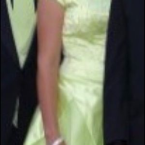 Lime green prom dress